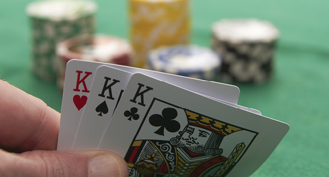 Card hand of three kings